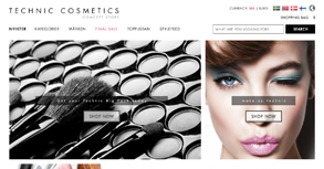 Technic Cosmetics Website By Interactive Media International