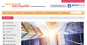 M. Salim Kasmani Securities (Pvt) Ltd Website By Interactive Media International