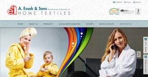 A. Essak & Sons Home Textile Website By Interactive Media International