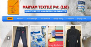 Marym Textile Website By Interactive Media International
