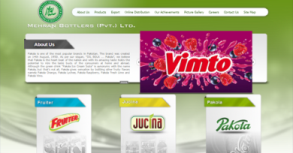 Mehran Bottlers And Pakola Website By Interactive Media International