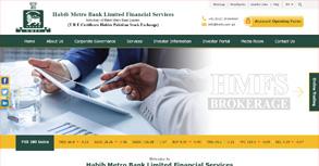 Habib Metropolitan Financial Services Website By Interactive Media International