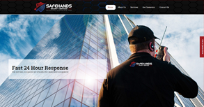 SafeHands Security Services Website By Interactive Media International