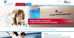Otsuka Pakistan Ltd. Website By Interactive Media International