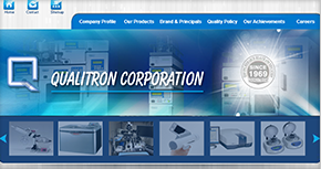 Qualitron Corporation - Laboratory  Website By Interactive Media International