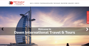 Dawn International Travel & Tours Website By Interactive Media International