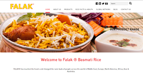Falak Rice Website By Interactive Media International