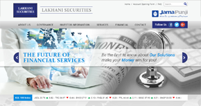 Lakhani Securities Pvt. Ltd. Website By Interactive Media International