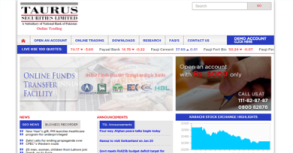 Taurus Securities Ltd. Website By Interactive Media International