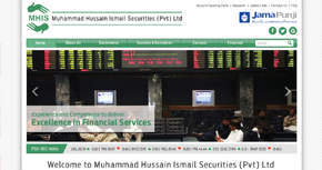 Muhammad Hussain Ismail Securities Website By Interactive Media International