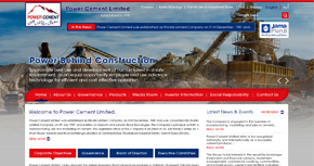 Power Cement Limited Website By Interactive Media International