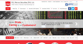 M.J.Memon Securities (Pvt) Ltd Website By Interactive Media International