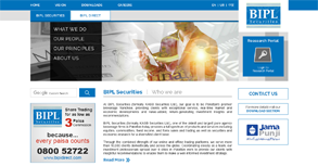 BIPL Securities Website By Interactive Media International