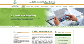 Al Habib Capital Markets (Pvt) Ltd Website By Interactive Media International