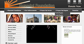 Hussaini Foundation - trust - NGO Website By Interactive Media International