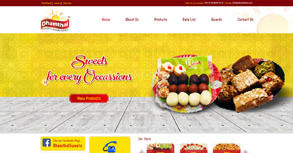 Dhamthal Bakers Website By Interactive Media International