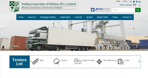 Trading Corporation of Pakistan (Pvt) Ltd. Website By Interactive Media International