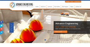 Advance Engineering Website By Interactive Media International