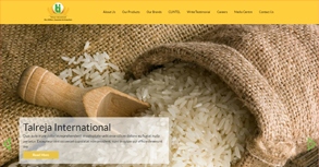 Talreja Rice International Website By Interactive Media International
