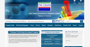 Pak Oman Investment Company Ltd. Website By Interactive Media International