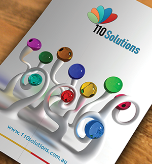 110 Solutions Brochure Designed By Interactive Media
