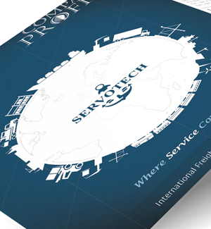 Servotech Shipping Brochure  Designed By Interactive Media