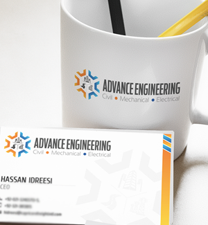 Advance Engineering Logo & Business Card Designed By Interactive Media