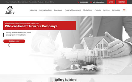 Jaffrry Builders Designed And Developed By Interactive Media