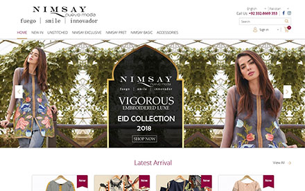 Nimsay Style eStore Designed And Developed By Interactive Media