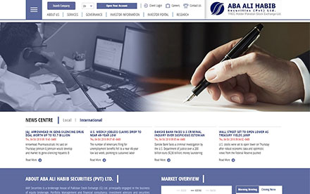 Aba Ali Habib Securities Designed And Developed By Interactive Media