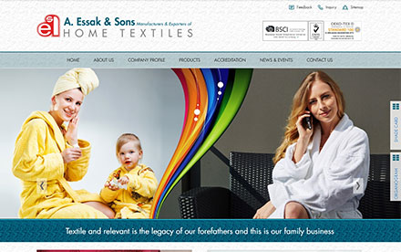A. Essak & Sons Home Textile Designed And Developed By Interactive Media