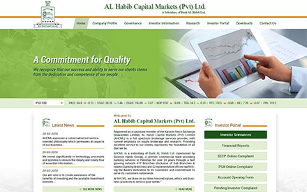 Al Habib Capital Markets (Pvt) Ltd Designed And Developed By Interactive Media