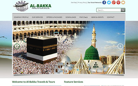 Al-Bakka Travels Designed And Developed By Interactive Media