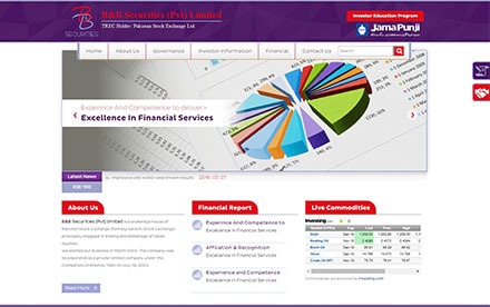 B&B Securities Pvt. Ltd. Designed And Developed By Interactive Media