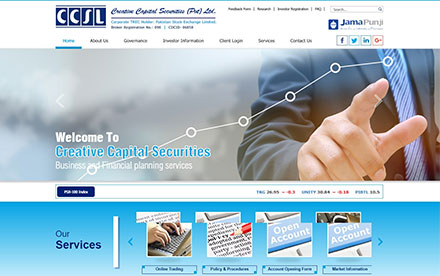 Creative Capital Securities (Pvt) Ltd. Designed And Developed By Interactive Media