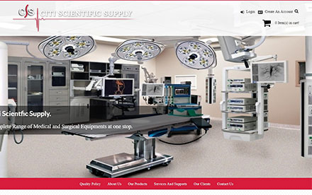 Citi Scientific Supply Designed And Developed By Interactive Media