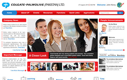 Colgate - Intranet Web Designed And Developed By Interactive Media