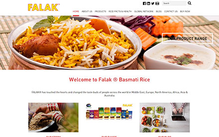 Falak Rice Designed And Developed By Interactive Media