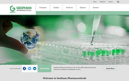 Geofman Pharmaceuticals Designed And Developed By Interactive Media