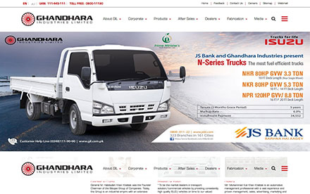 Ghandhara Industries Designed And Developed By Interactive Media