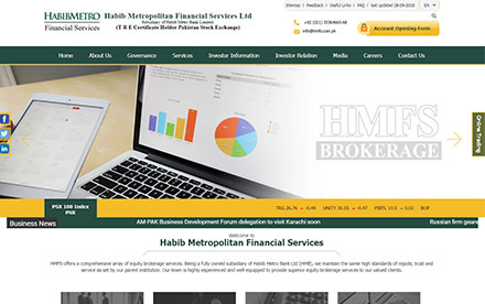 Habib Metropolitan Financial Services Designed And Developed By Interactive Media