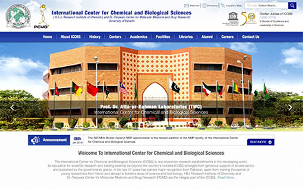 ICCBS - Karachi University Designed And Developed By Interactive Media