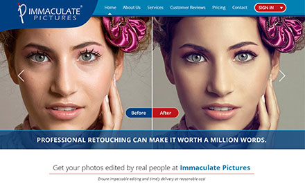 Immaculate Pictures Designed And Developed By Interactive Media