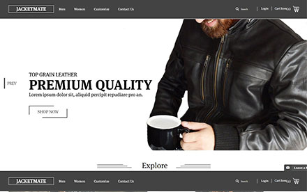 Leather Online Shop - jacketmate Designed And Developed By Interactive Media