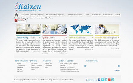 Kaizen Pharmaceuticals Pvt. Ltd. Designed And Developed By Interactive Media