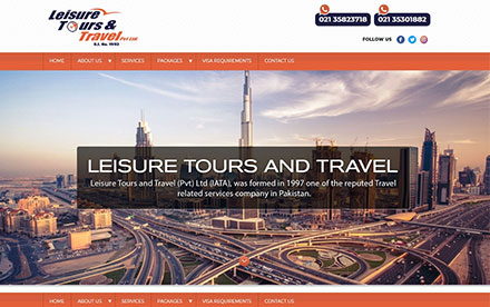 Leisure Tours Travel Designed And Developed By Interactive Media