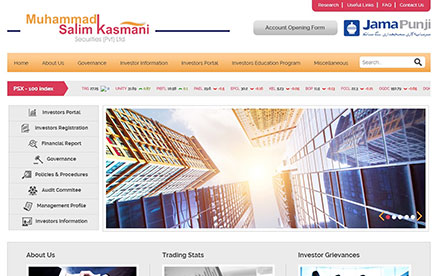 M. Salim Kasmani Securities (Pvt) Ltd Designed And Developed By Interactive Media
