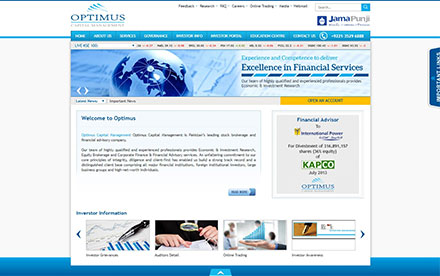 Optimus Capital Management Designed And Developed By Interactive Media
