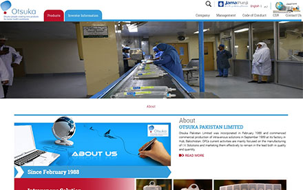 Otsuka Pakistan Ltd. Designed And Developed By Interactive Media