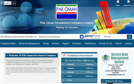 Pak Oman Investment Company Ltd. Designed And Developed By Interactive Media